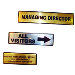 Aluminium Door Signs