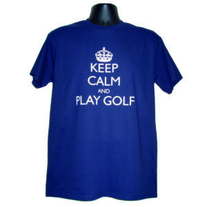 "Men's T-Shirt ""Keep Calm and Play Golf"""